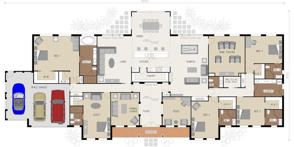 Floorplans - The Grange Regency | Acreage | Marksman Homes