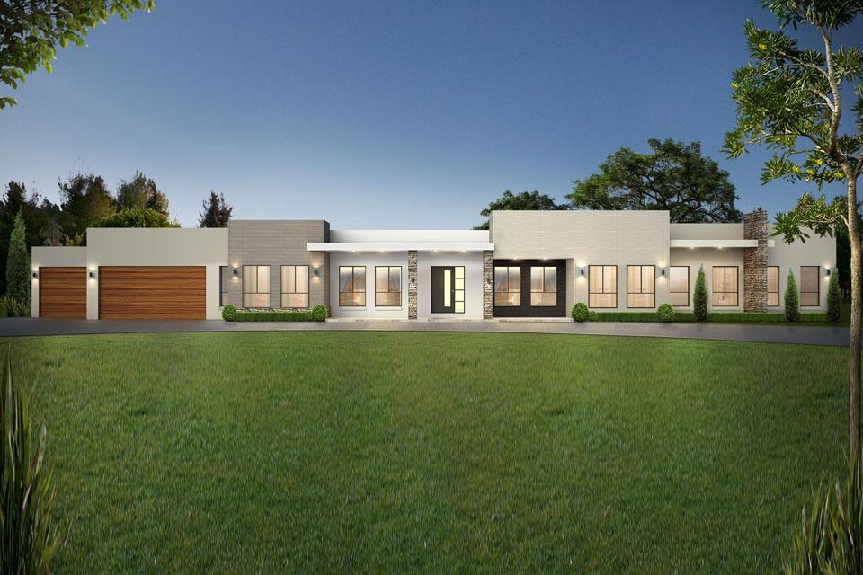 Acreage - The Grange Home Design - Modernistic Facade