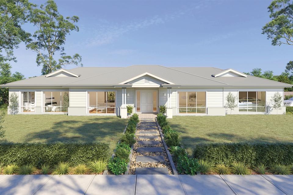 Acreage - The Resort Home Design   Hamptons Facade