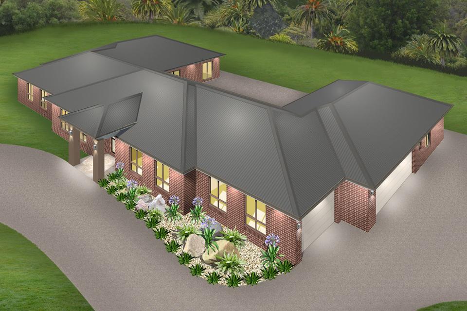 Acreage - The Resort Home Design   Traditional Facade