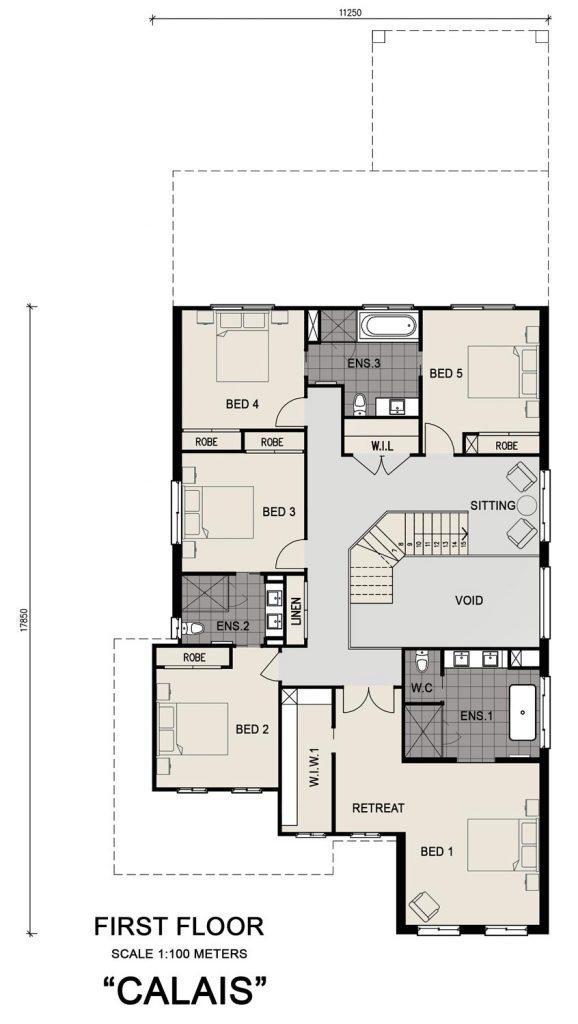 Floorplan - Calais I Home Design - Double Storey