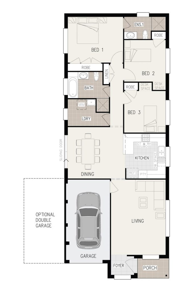 Floorplan - Verve Home Design   Inspirations Range - Single Storey