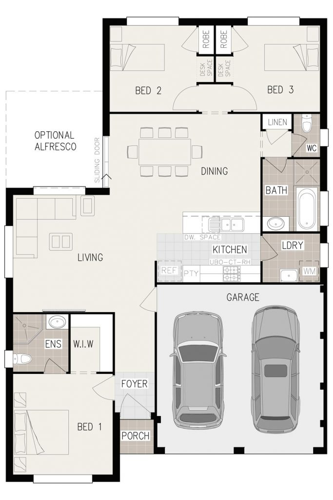 Floorplan - Aspira Home Design   Inspirations Range - Single Storey