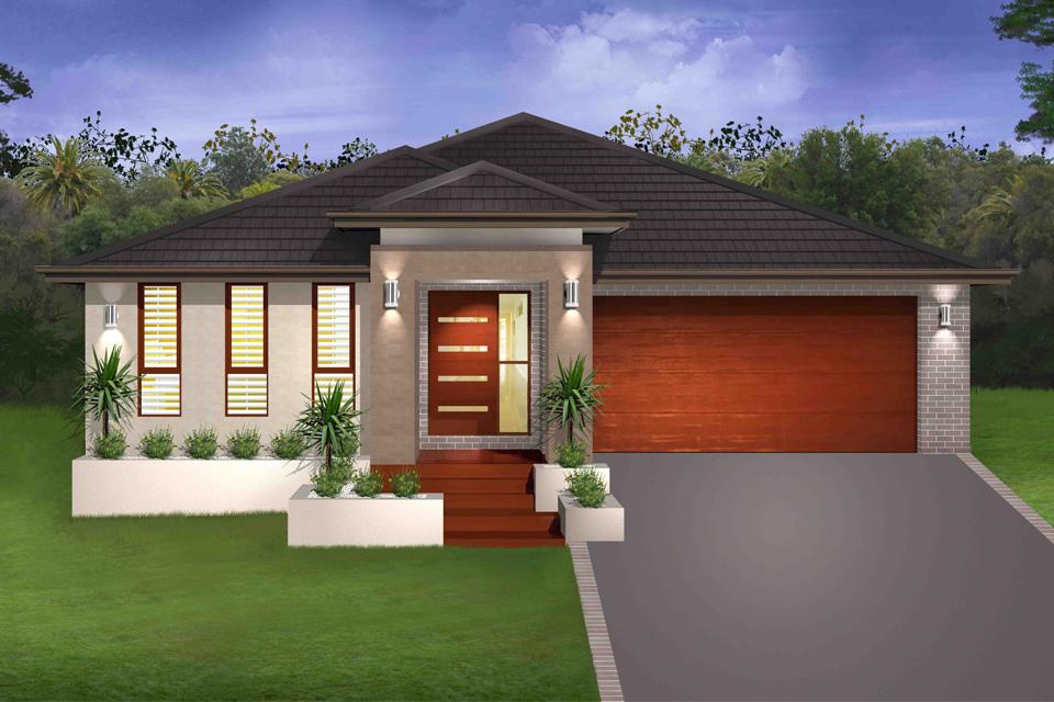 Single Storey - Braeside Home Design - Single Storey - Cascade I Home Design - New Age Facade