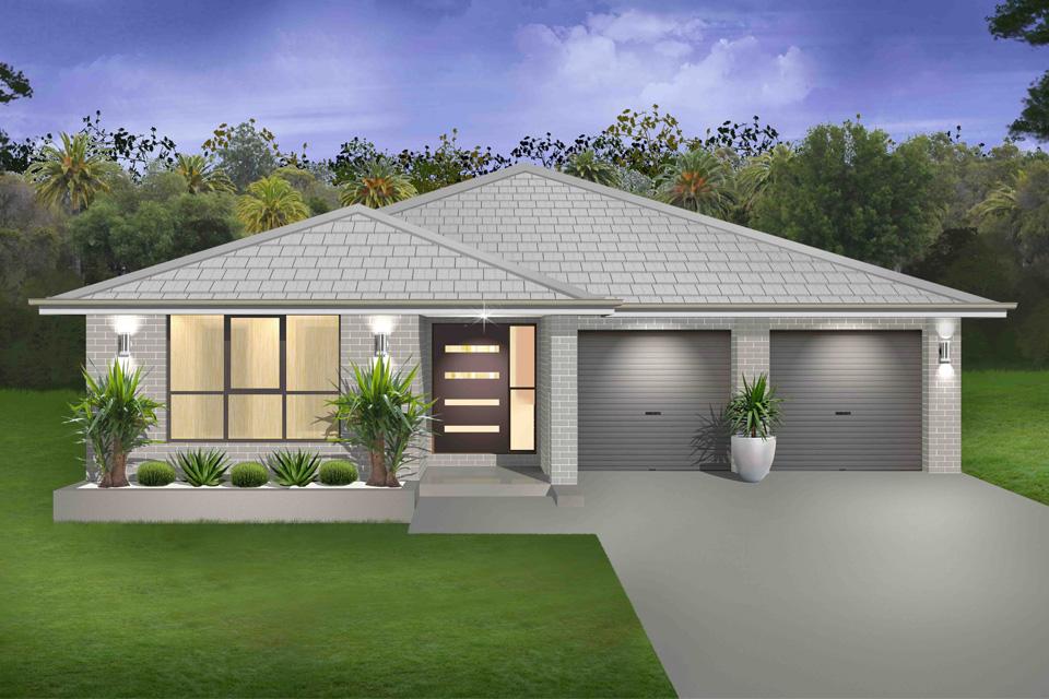 Single Storey - Braeside Home Design - Single Storey - Cascade I Home Design - Traditional Facade