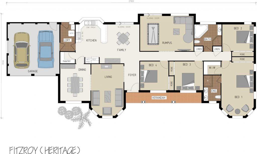 Floorplan - Fitzroy Home Design - Single Storey