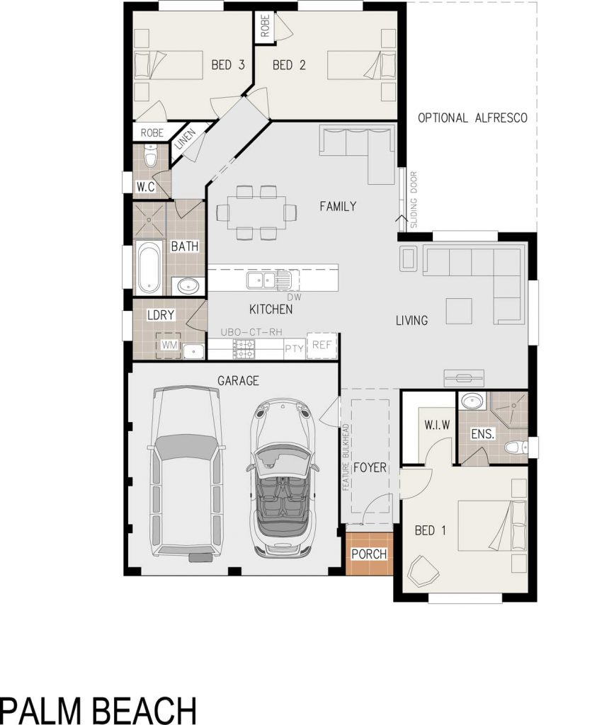 Floorplan - Palm Beach Home Design - Single Storey