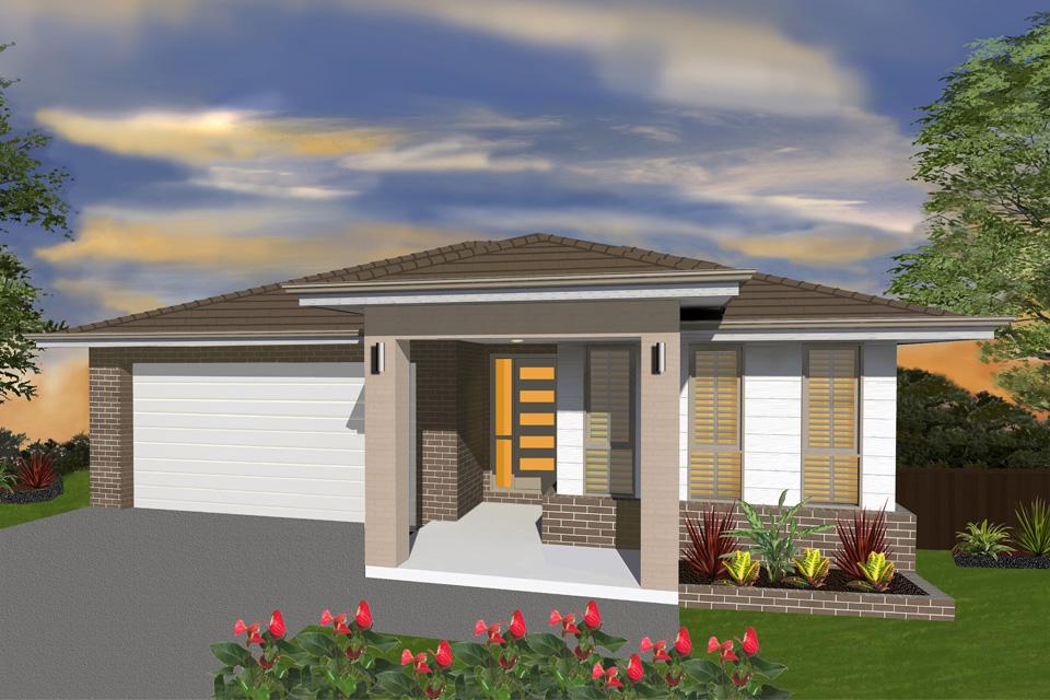 Single Storey - Palm Beach Home Design - New Age Facade