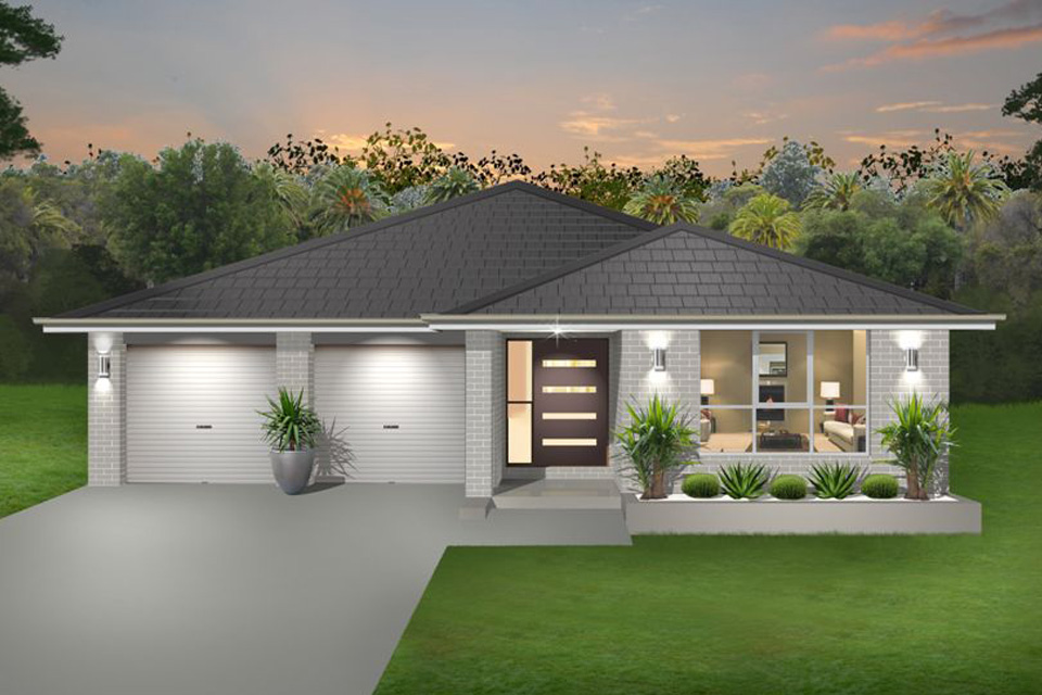 Single Storey - Palm Beach Home Design - Traditional Facade