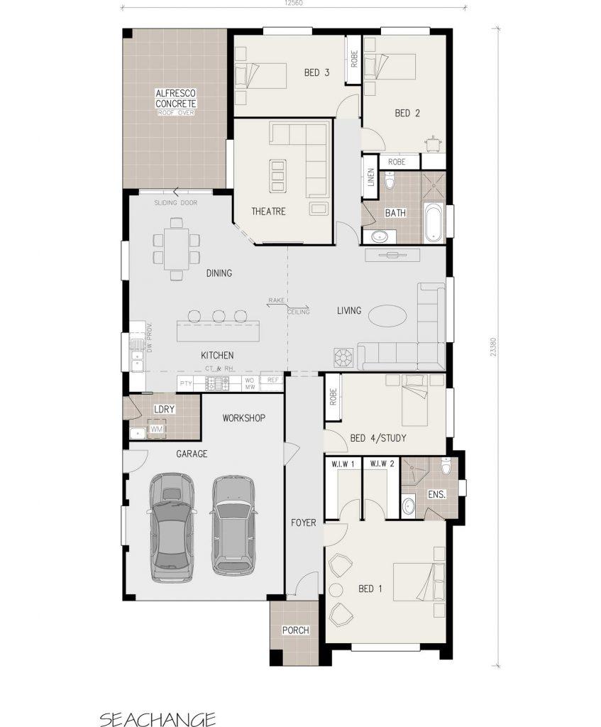 Floorplan - Seachange Home Design - Single Storey