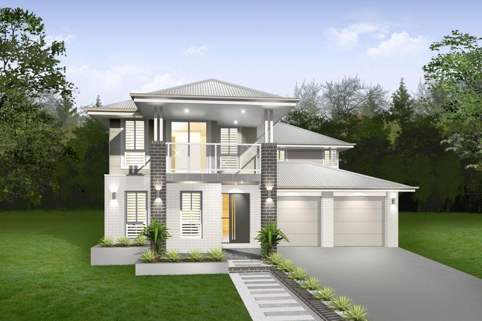 Double Storey - Lindeman Home Design - Facade - Contemporary