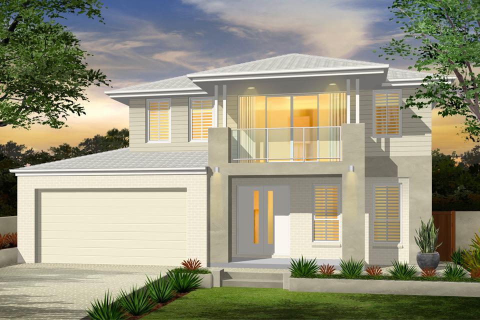 Madison Home Design - Double Storey   New Age Facade
