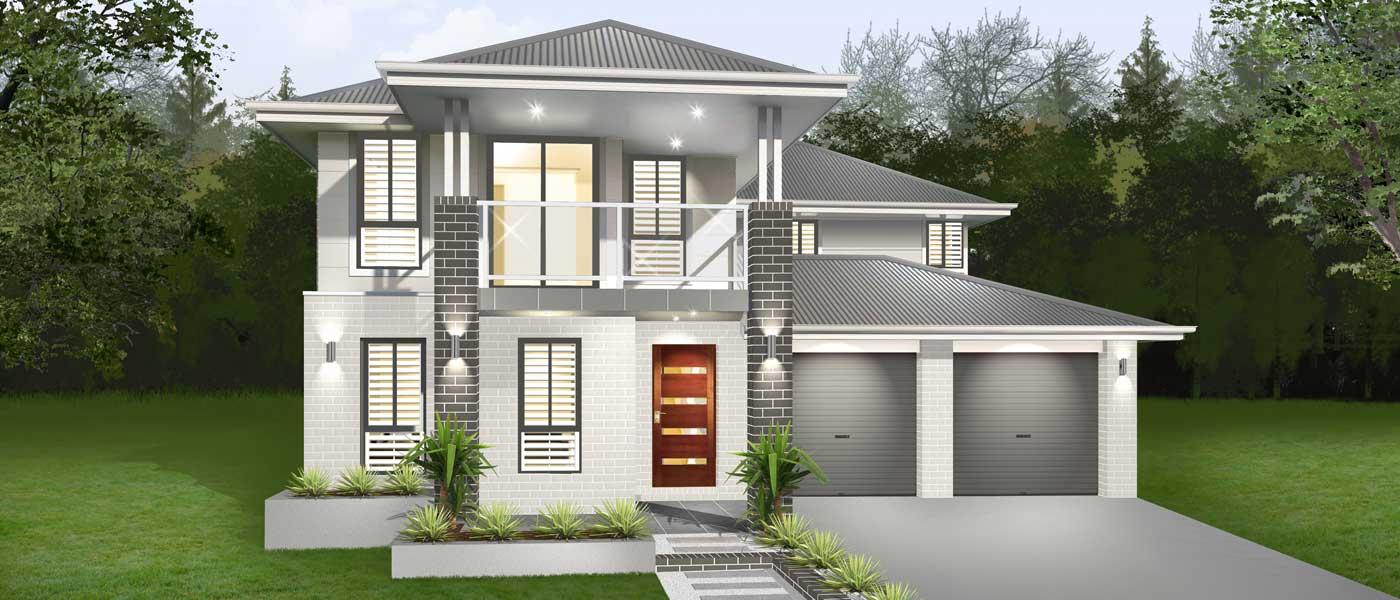 Esprit Home Design - Inspirations Range Double Storey   Marksman Homes - Illawarra Home Builder