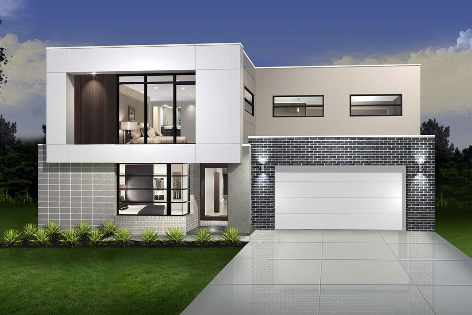 Double Storey - Daintree Cove Home Design - Cube Facade