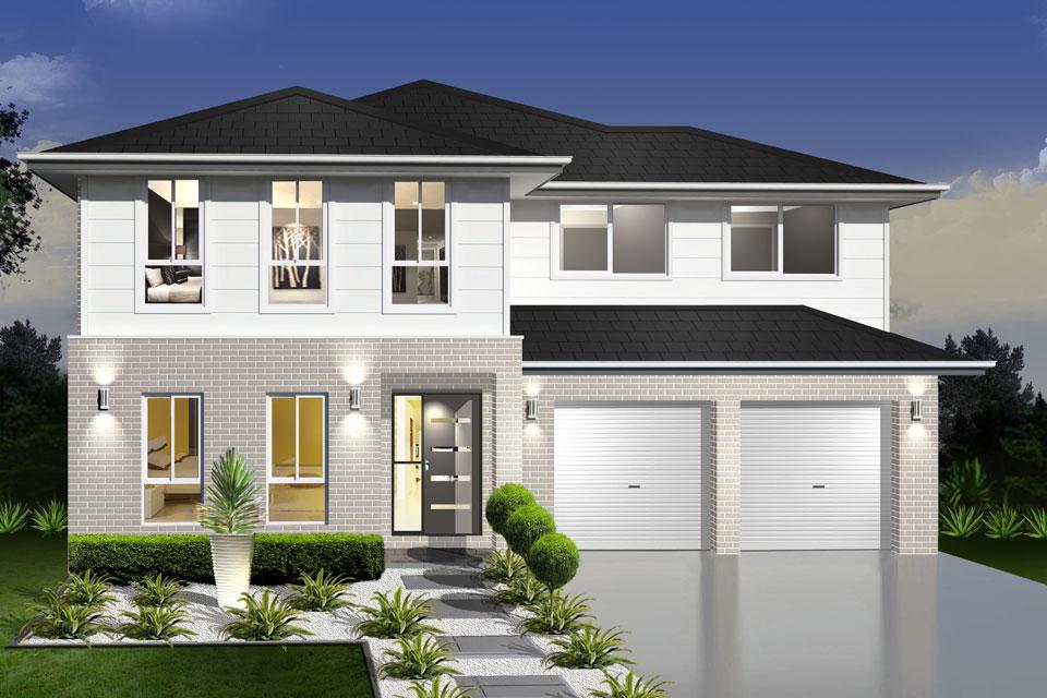 Double Storey - Daintree Cove Home Design - Traditional Facade
