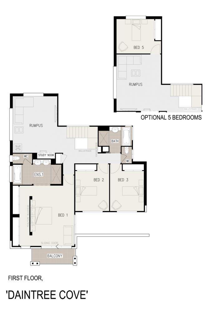 Floorplan - Daintree Cove Home Design   First Floor - Double Storey