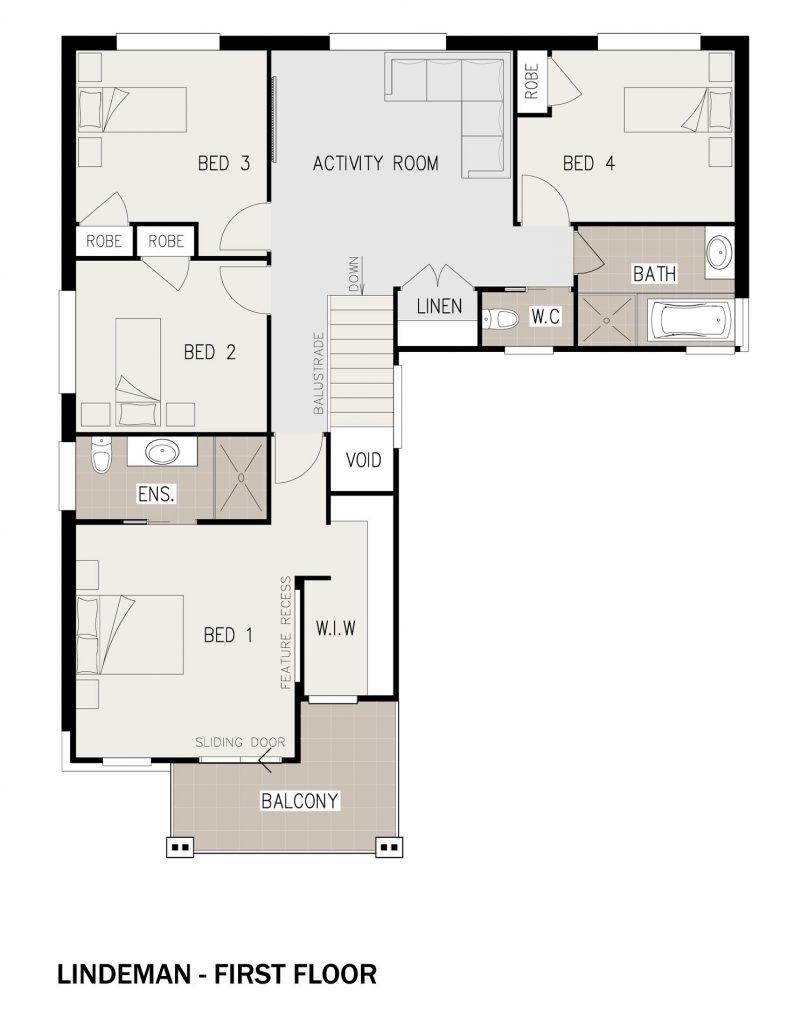 Floorplan - Lindeman Home Design | First Floor - Double Storey
