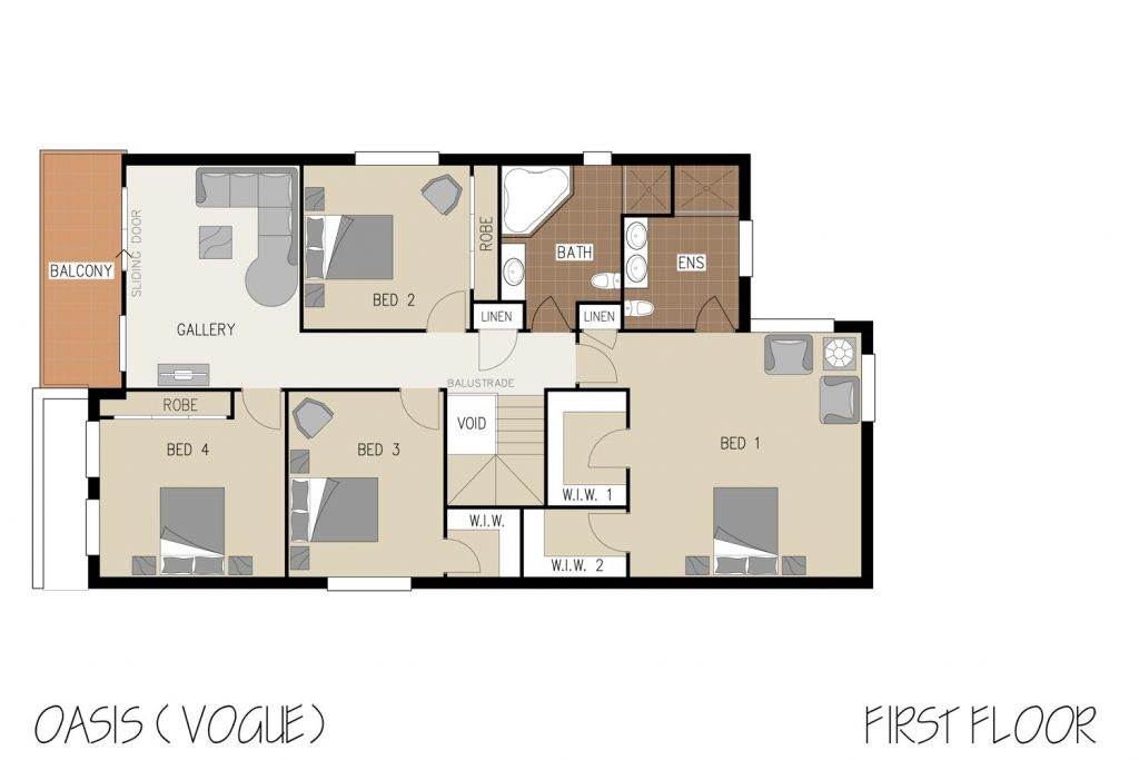 Floorplan - Oasis Home Design | First Floor - Double Storey