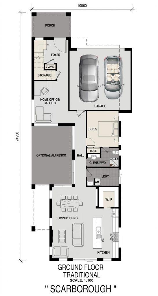 Floorplan - Scarborough Home Design   Ground Floor - Double Storey