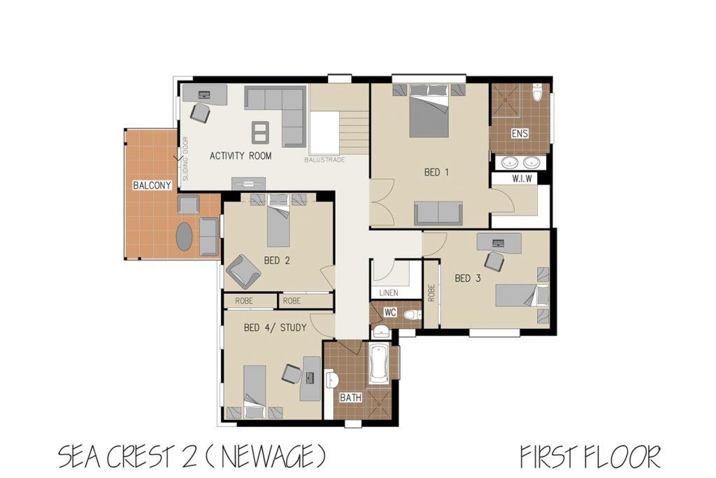 Floorplan - Oasis Home Design   First Floor - Double Storey