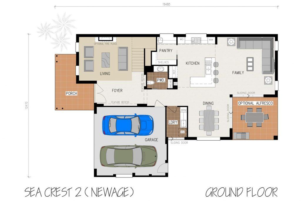 Floorplan - Oasis Home Design   Ground Floor - Double Storey