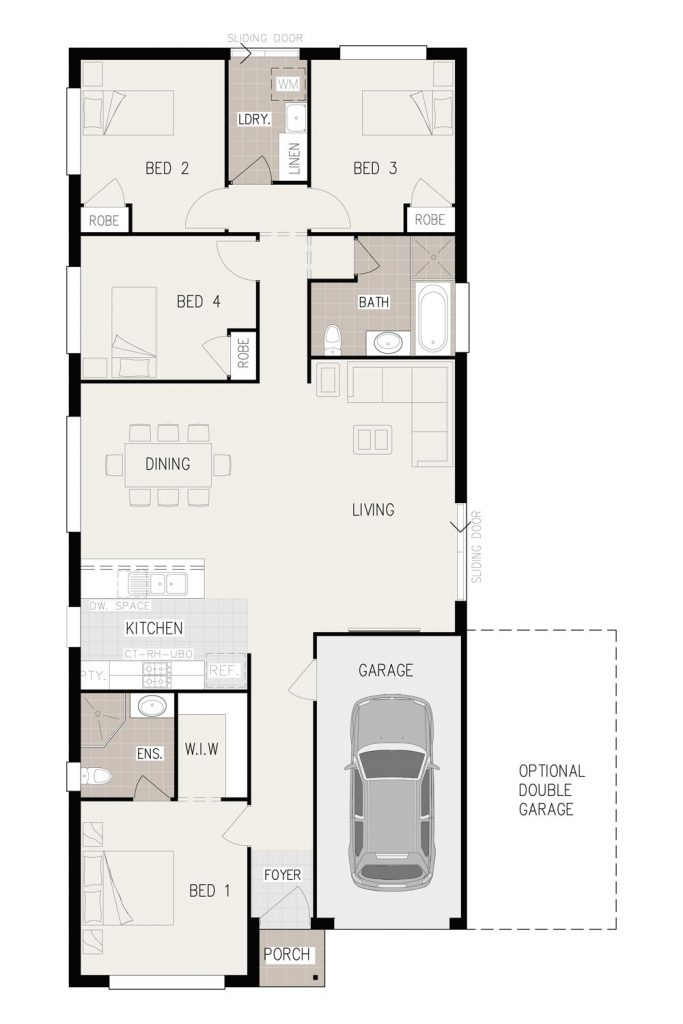 Floorplan - Imagin-4 Home Design | Single Storey