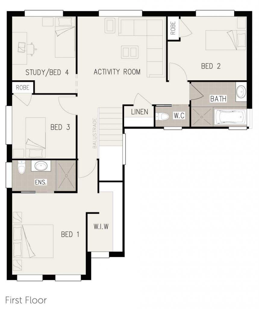 Floorplan - Esprit Home Design   Ground Floor - Inspirations Range Double Storey