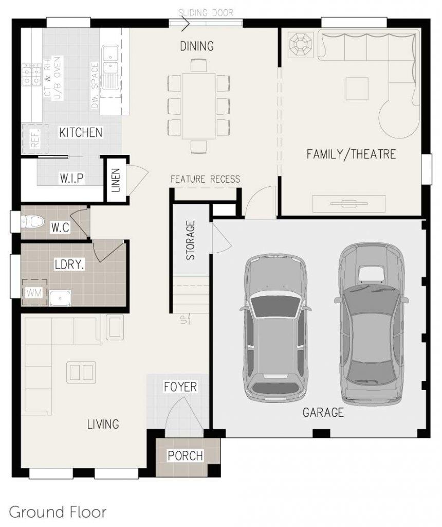 Floorplan - Esprit Home Design   First Floor - Inspirations Range Double Storey