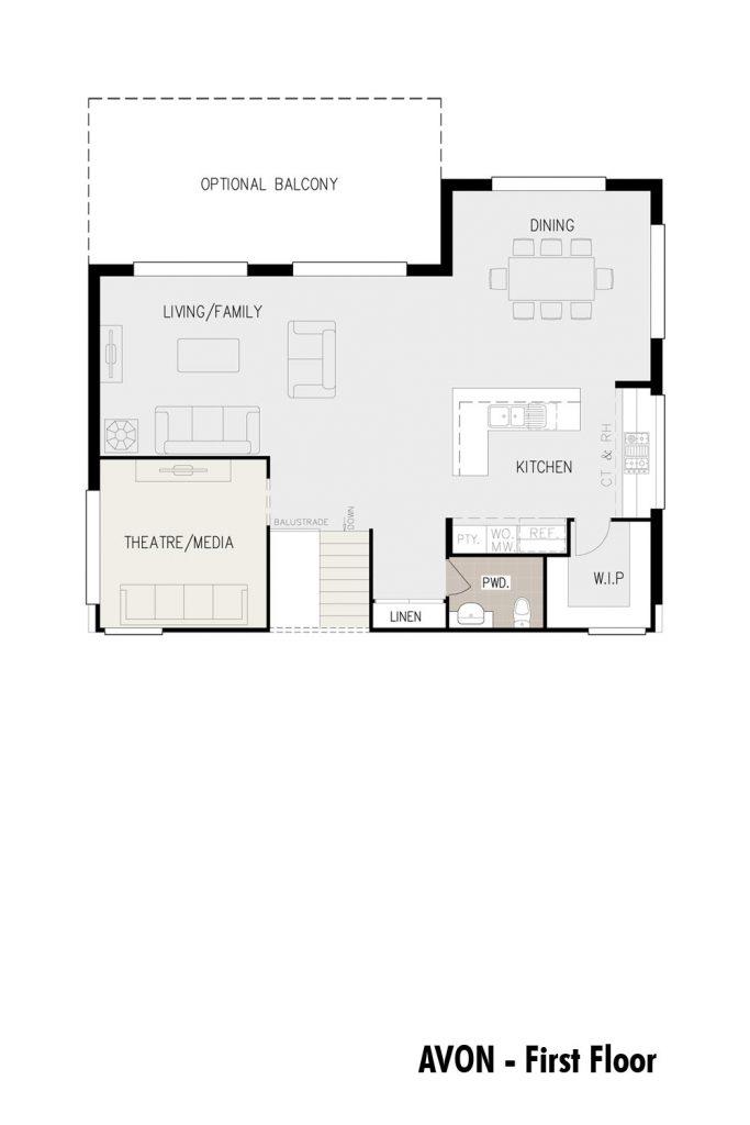 Floorplan - Avon Home Design   First Floor - Split Level