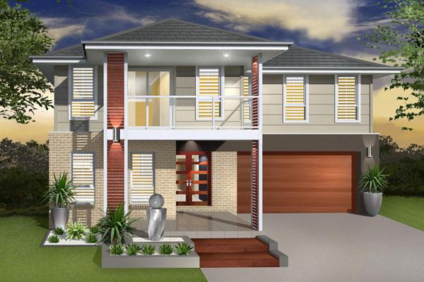 Split Level - Hayman Home Design - Facade - Contemporary