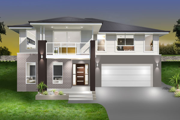 Split Level - Hayman Home Design - Facade - New Age