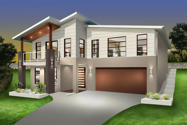 Split Level - Hayman Home Design - Facade - Vogue