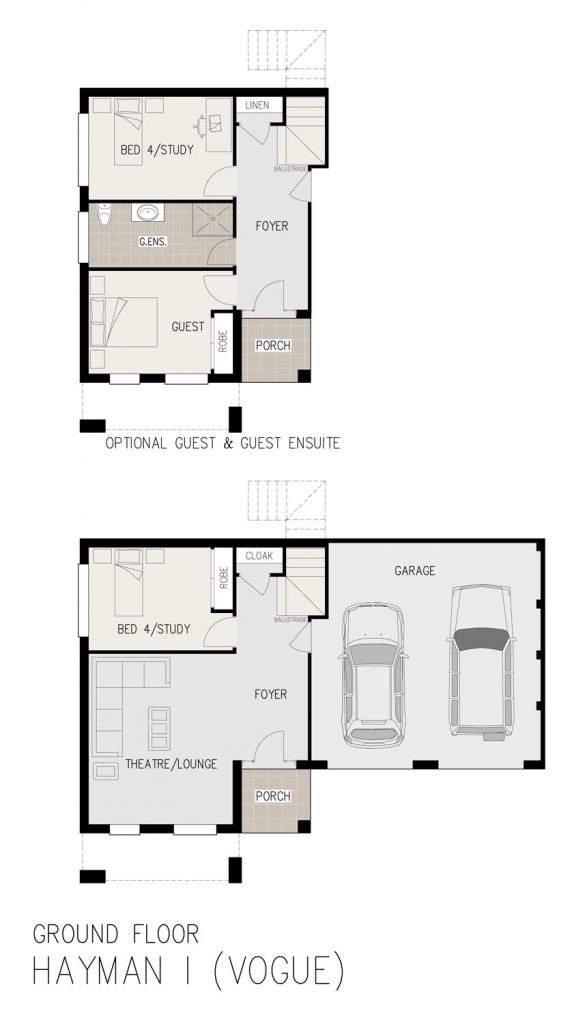 Floorplan - Hayman Home Design | Ground Floor - Split Level