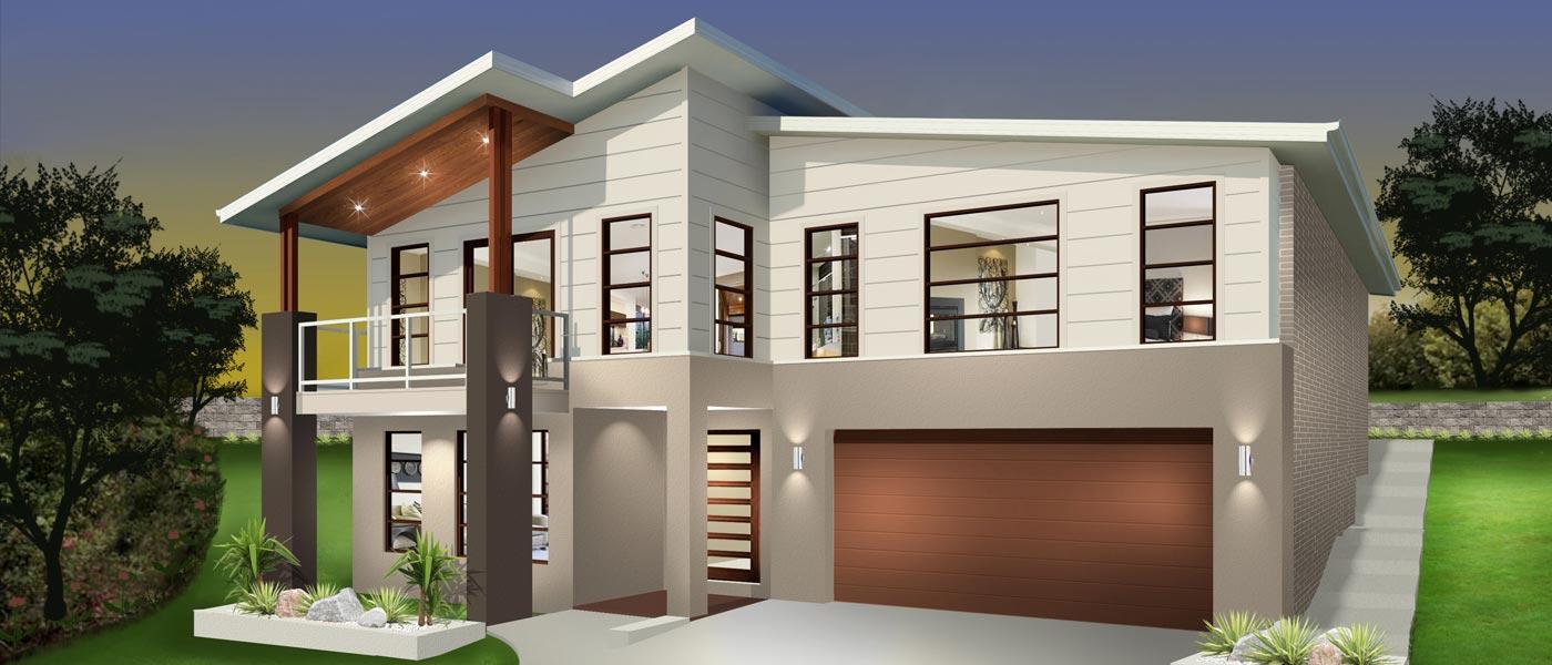 Hayman Home Design - Split Level | Marksman Homes - Illawarra Home Builder