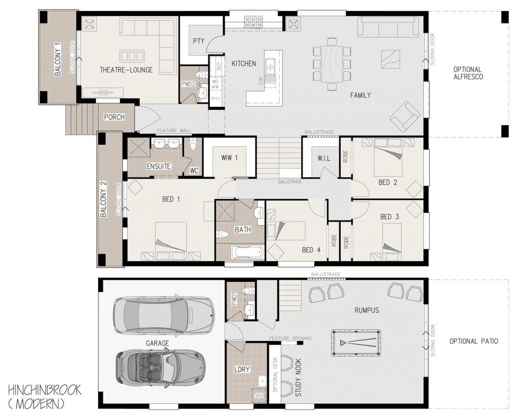 Floorplan - Hinchinbrook Home Design   Split Level