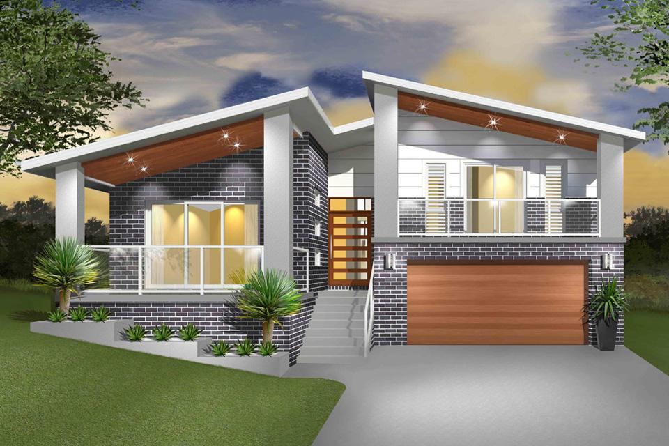Split Level - Hinchinbrook Home Design - Facade - Modern