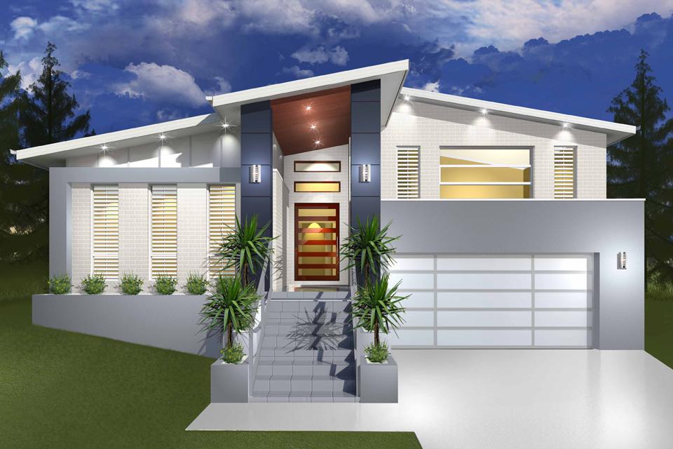 Split Level - Hinchinbrook Home Design - Facade - Modern II