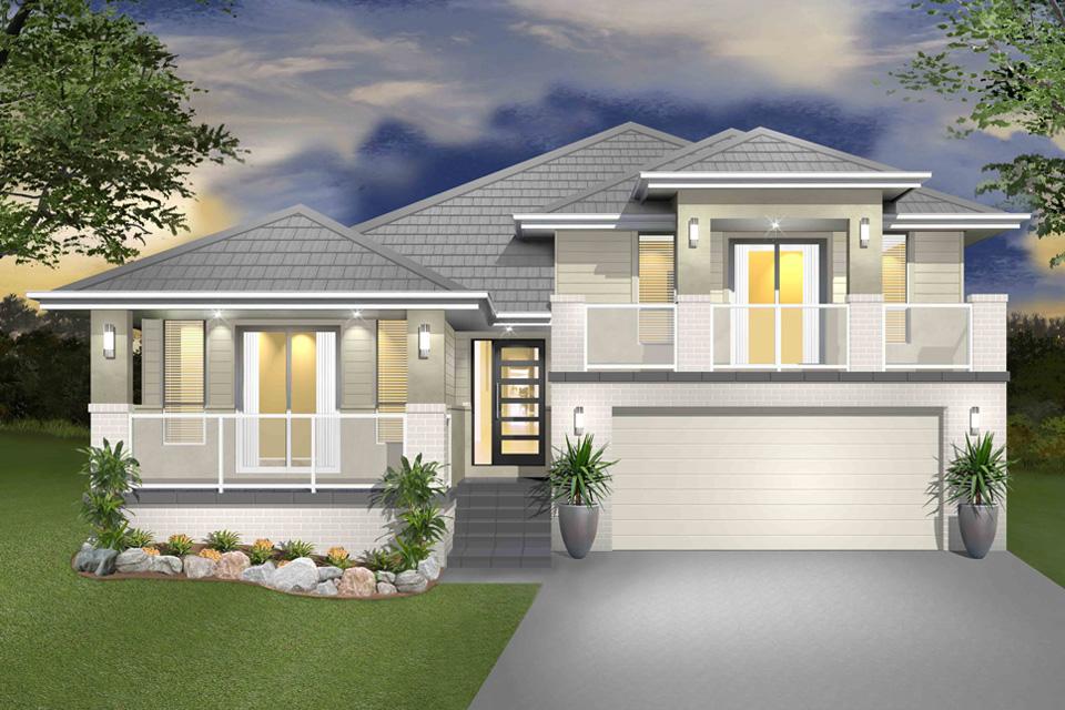 Split Level - Hinchinbrook Home Design - Facade - New Age