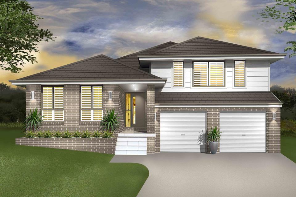 Split Level - Hinchinbrook Home Design - Facade - Traditional