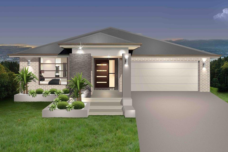 Split Level - Parkview Home Design - Facade - New Age