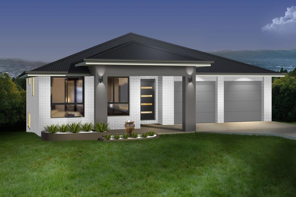 Split Level - Parkview Home Design - Facade - Traditional