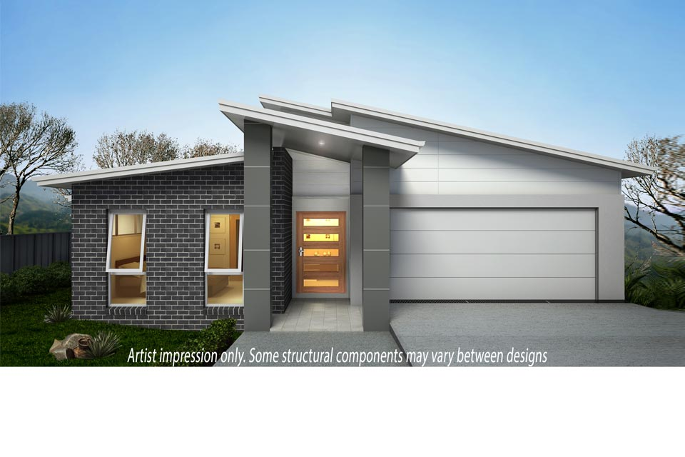 Split Level - Parkview Home Design - Facade - Vogue