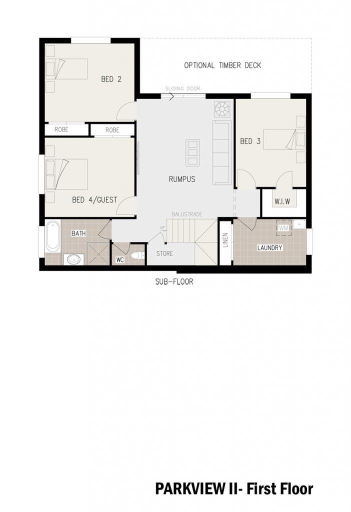 Floorplan - Parkview Home Design | First Floor - Split Level