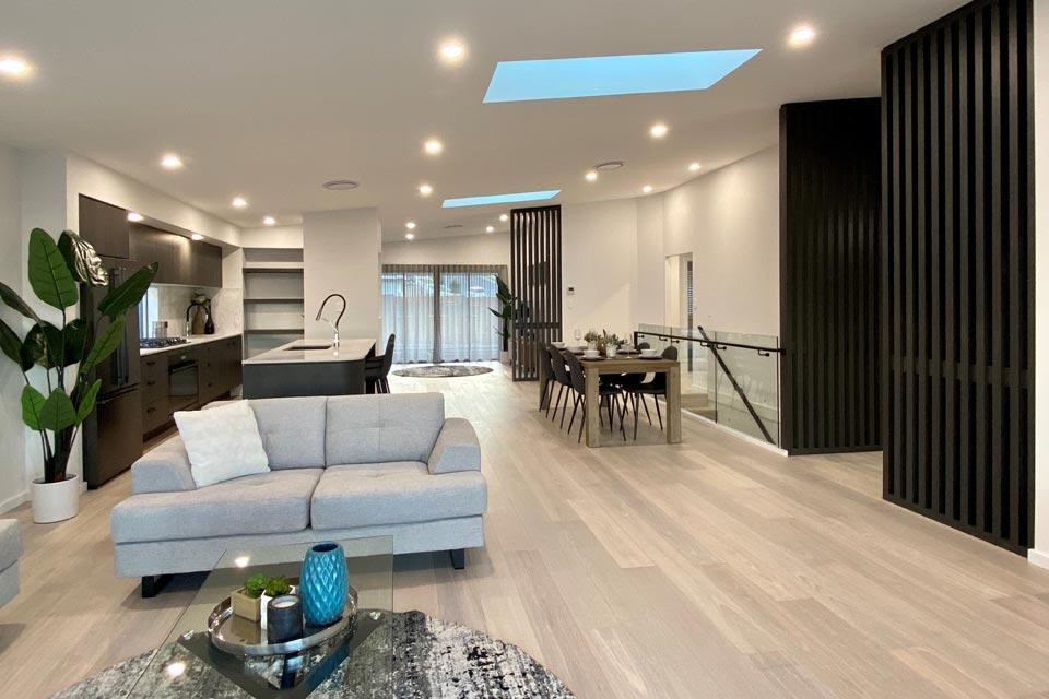 Living Area - Sierra Exhibition Home | Calderwood | Split Level | Marksman Homes