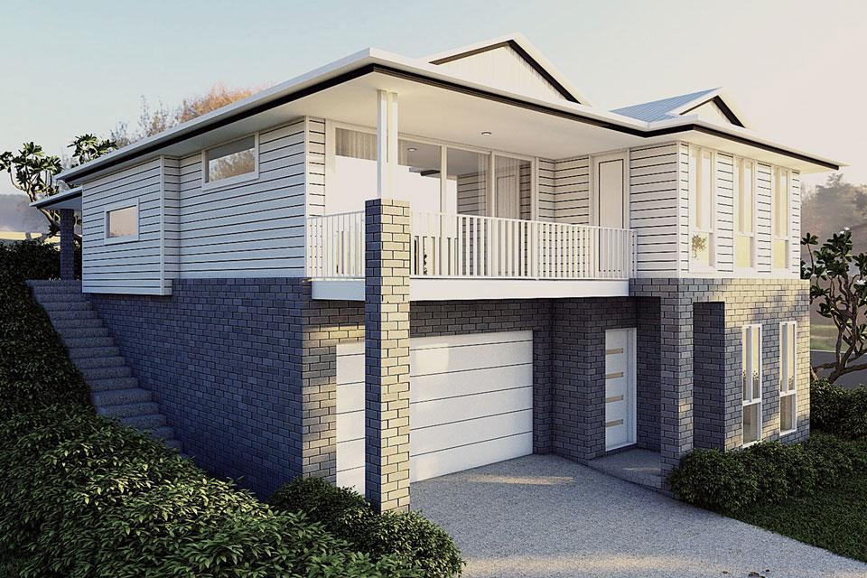 Split Level - Sierra Home Design - Facade - Hampton