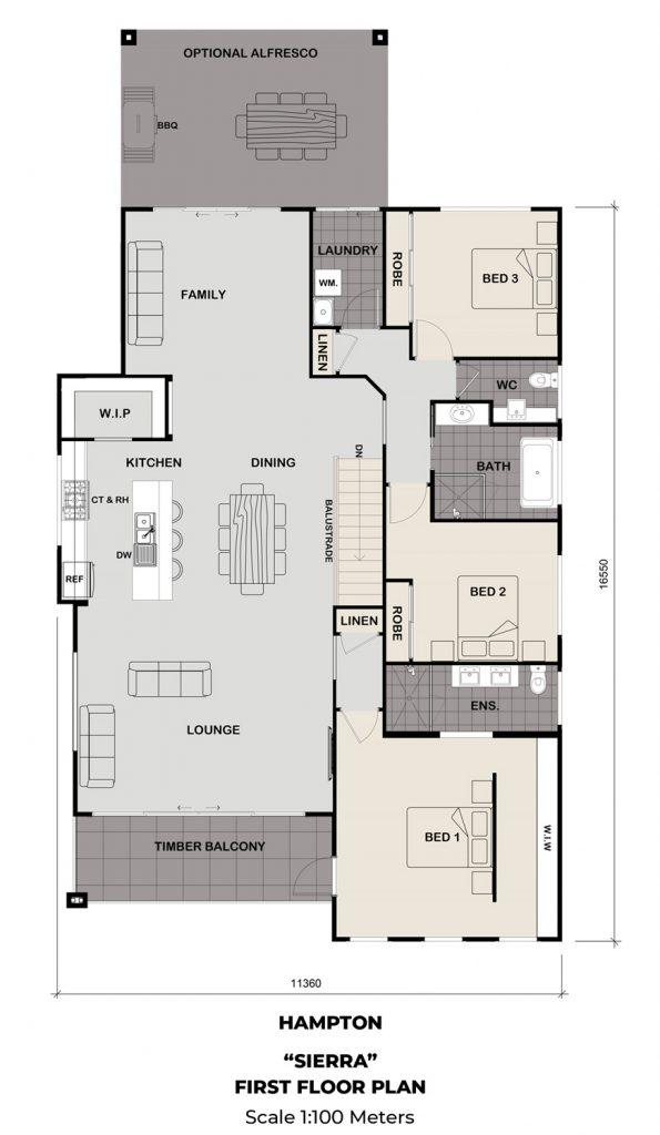 Floorplan - Sierra Home Design | First Floor - Split Level