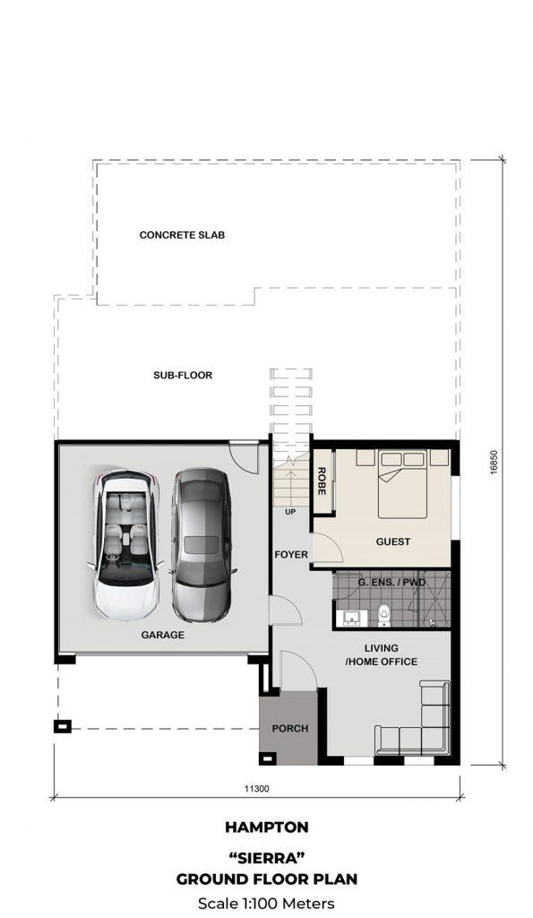 Floorplan - Sierra Home Design | Ground Floor - Split Level