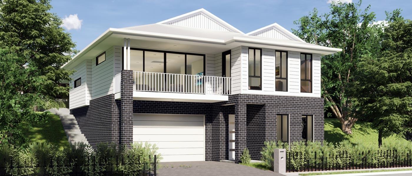 Sierra Home Design - Split Level | Marksman Homes - Illawarra Home Builder