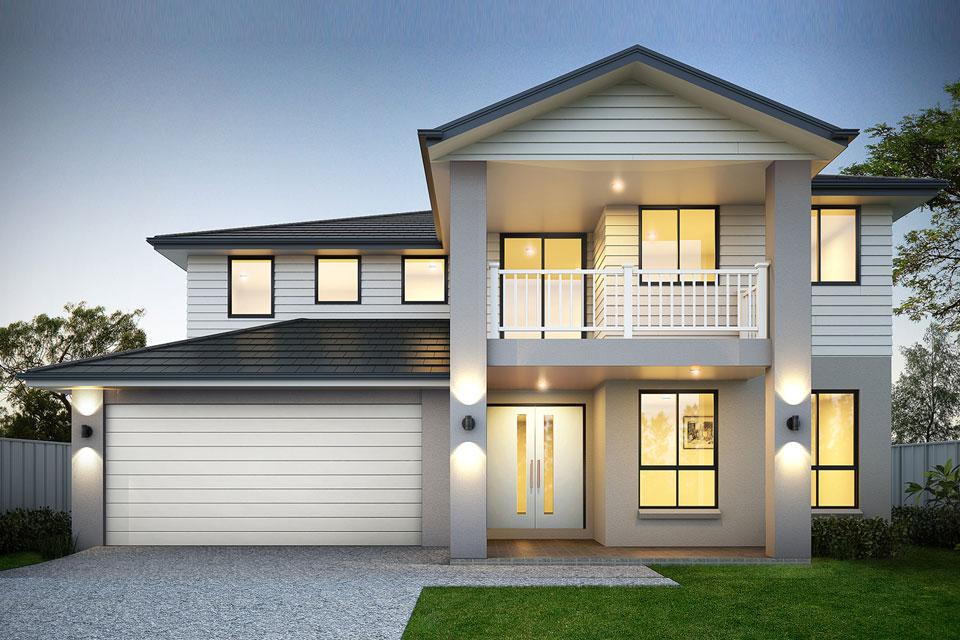 Double Storey - Calais Home Design - Hampton Facade