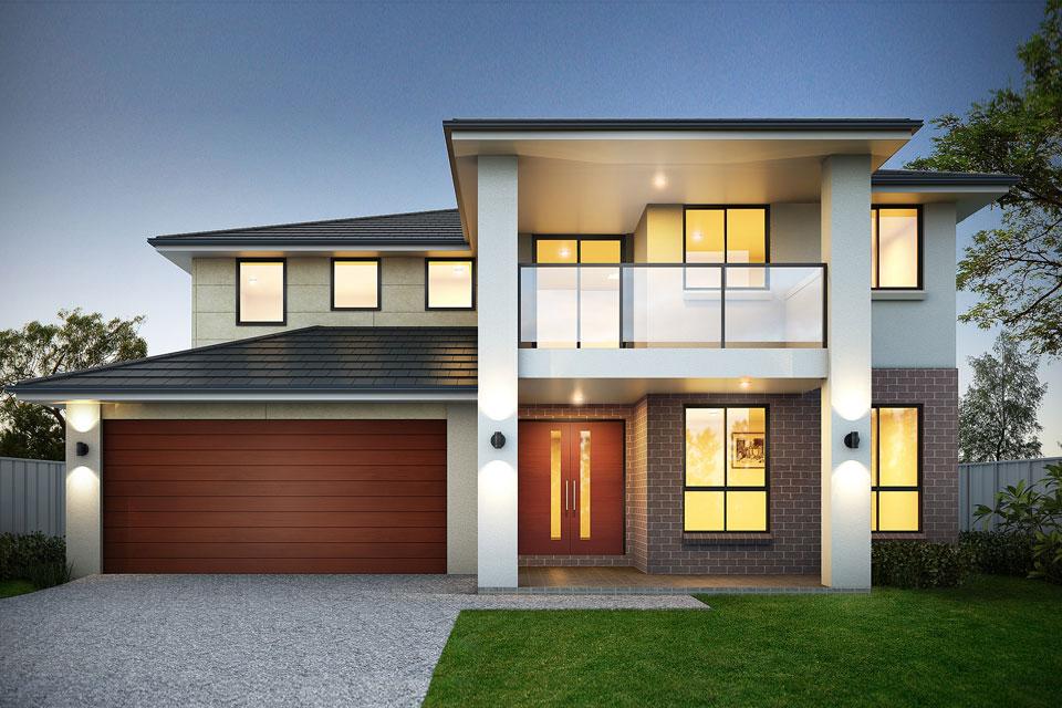 Double Storey - Calais Home Design - New Age Facade